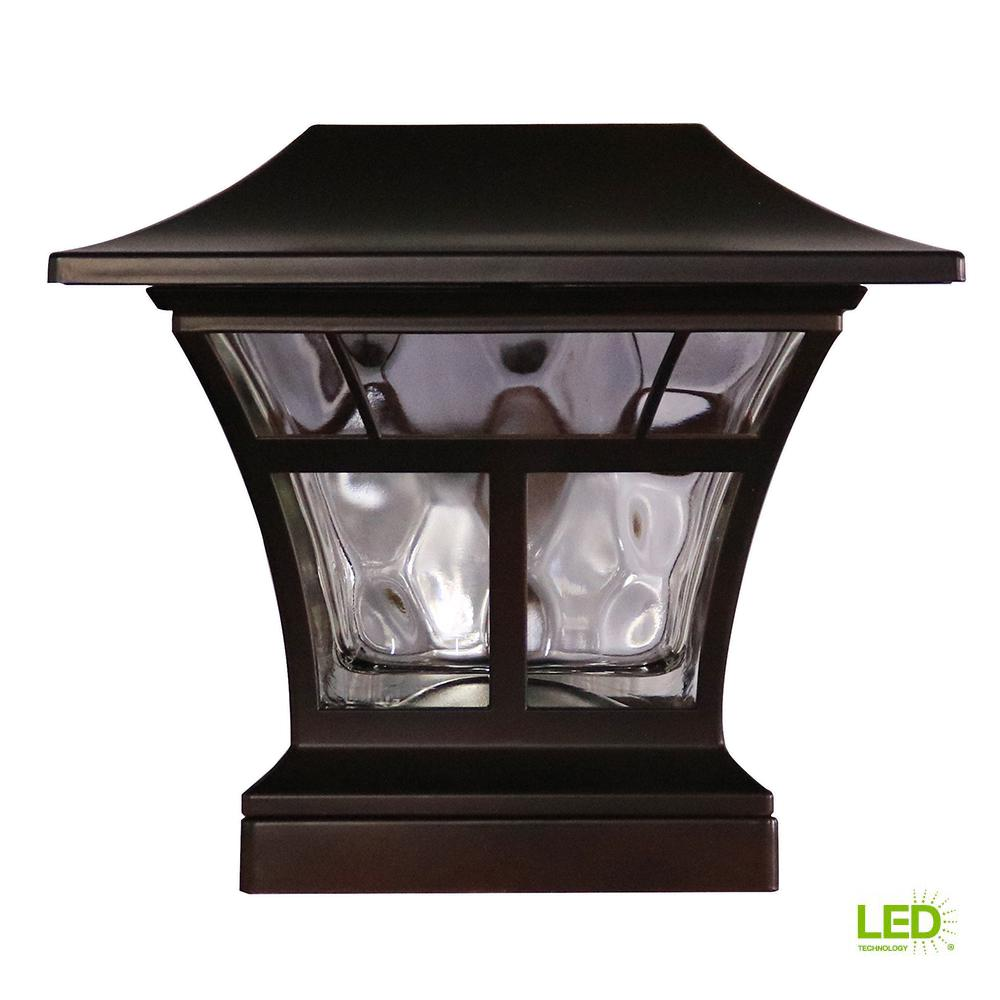 Solar Powered Outdoor Mediterranean Bronze Integrated LED 3000K Warm White