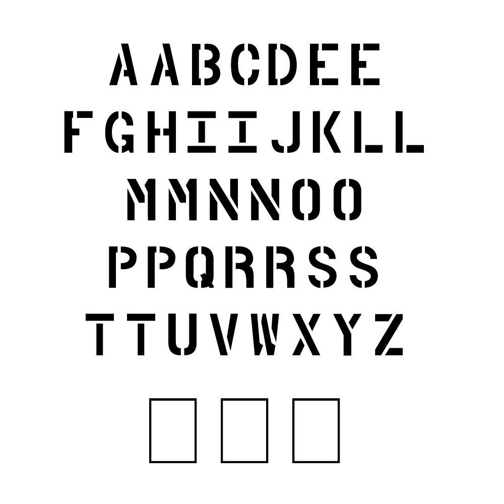 4 in. Parking Lot Alphabet Set