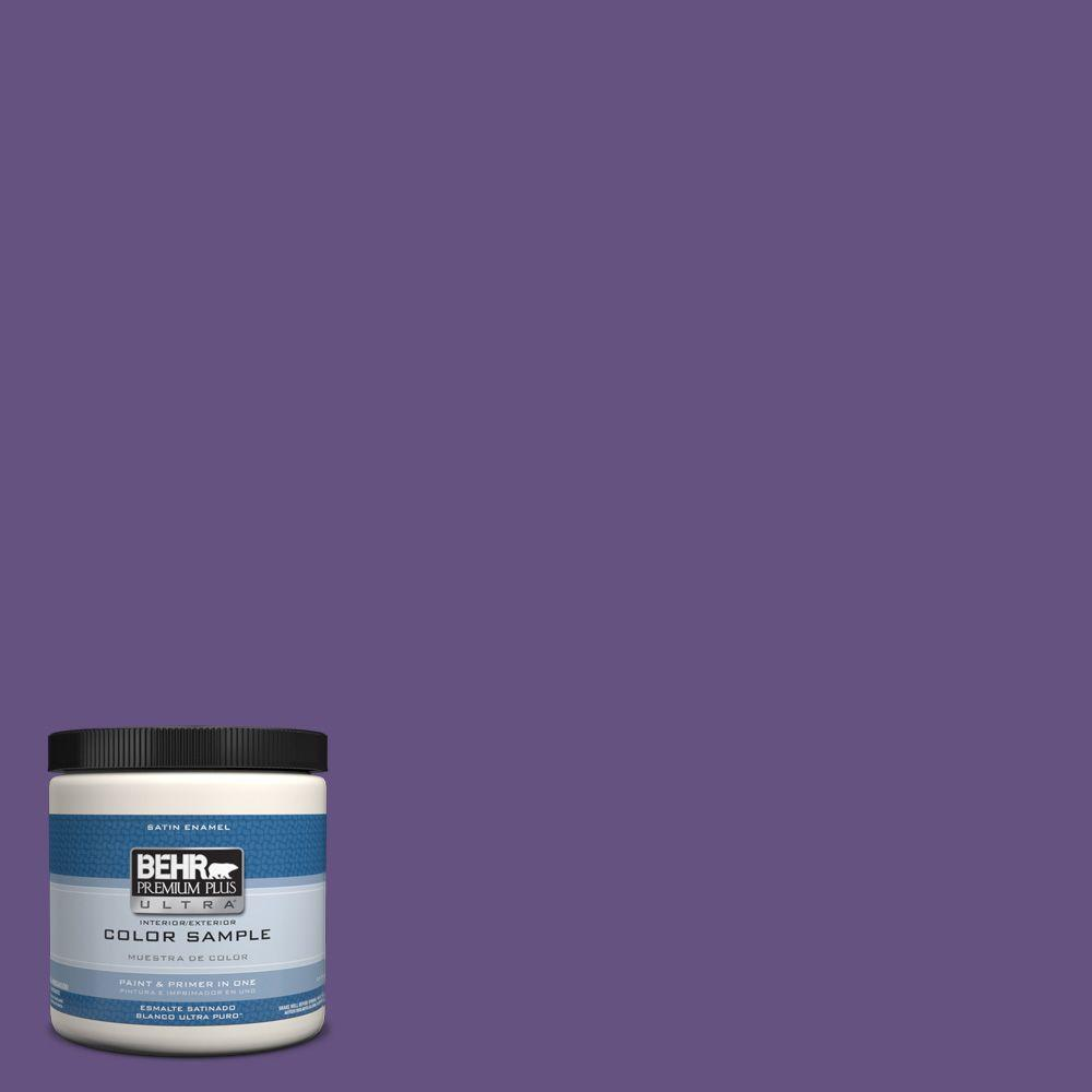 behr premium plus ultra 8 oz hdc md 25 virtual violet interior exterior satin enamel paint. Black Bedroom Furniture Sets. Home Design Ideas