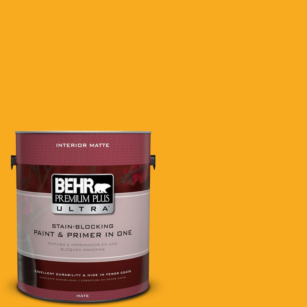 BEHR Premium Plus Ultra 1 gal. #P270-7 Sunny Side Up  Matte Interior Paint and Primer in One