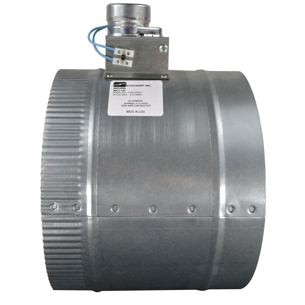 Suncourt 10 in  Automated Damper Normally Closed