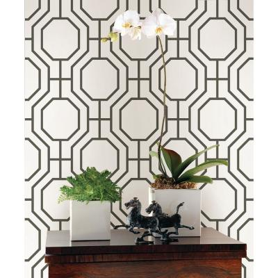 Circuit Black Modern Ironwork Paper Strippable Roll Wallpaper (Covers 56.4 sq. ft.)
