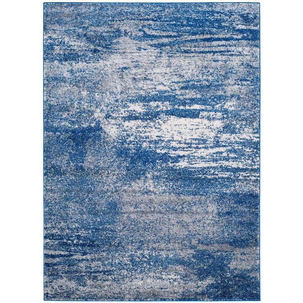 Safavieh Evoke Navy Ivory 6 Ft 7 In X 9 Ft Area Rug