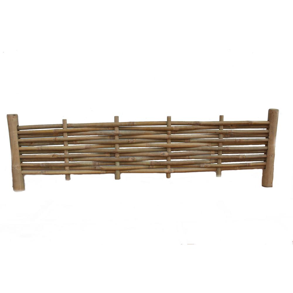 Master Garden Products 48 In. X 14 In. Woven Brown Bamboo Edging