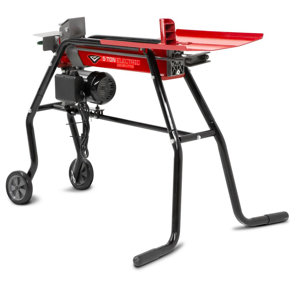 Earthquake 120-Volt 5-Ton 15 Amp Electric Log Splitter with Stand