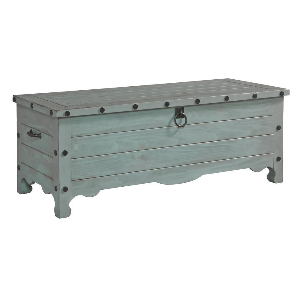 Progressive Furniture Jesse Mineral Gray Storage Trunk A744-37