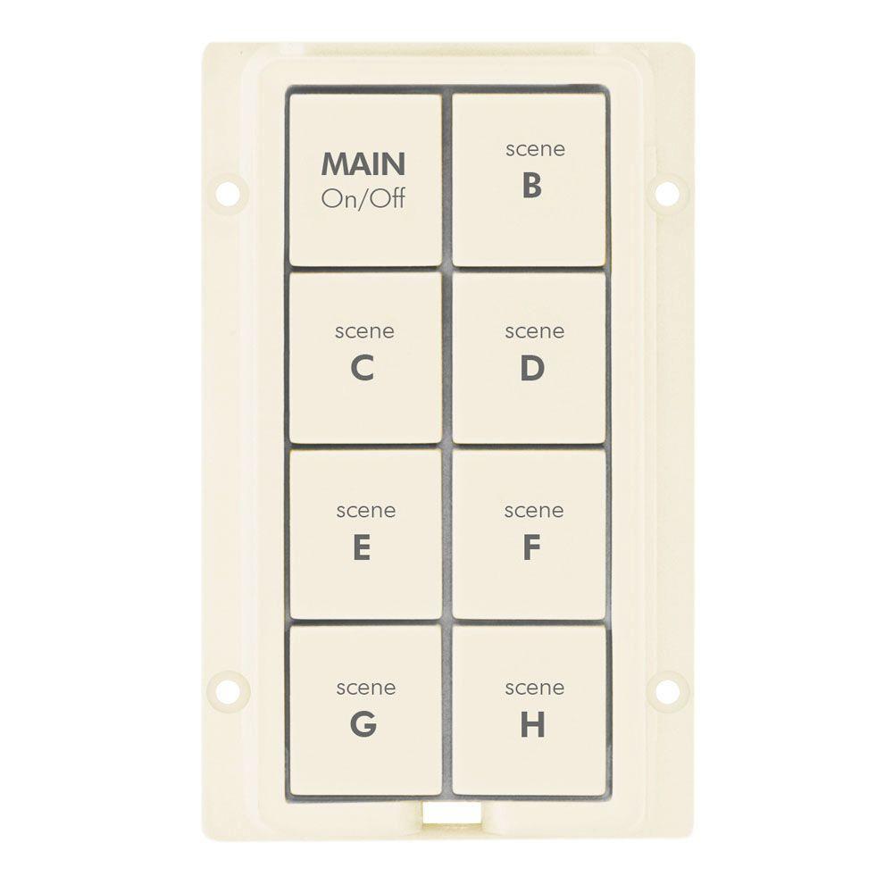Insteon 8-Button Change Kit for KeypadLinc - Light Almond