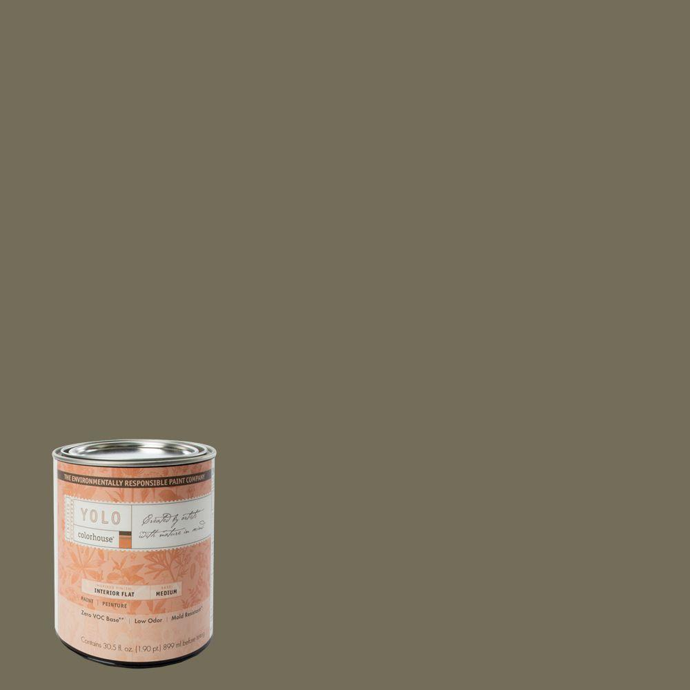YOLO Colorhouse 1-Qt. Stone .06 Flat Interior Paint-DISCONTINUED