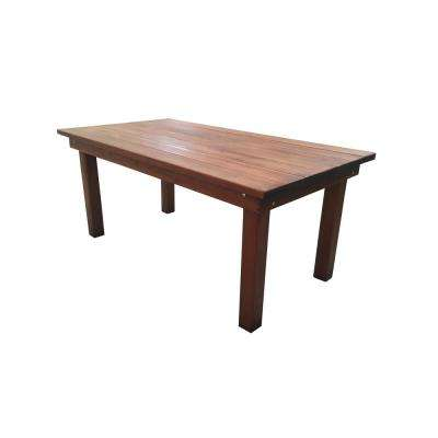 Farmhouse Mission Brown 8 ft. Redwood Outdoor Dining Table