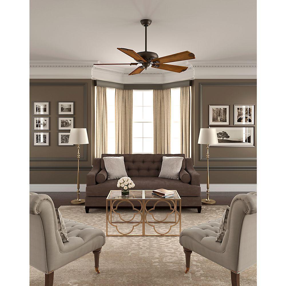 Indoor Brushed Cocoa Bronze Ceiling Fan