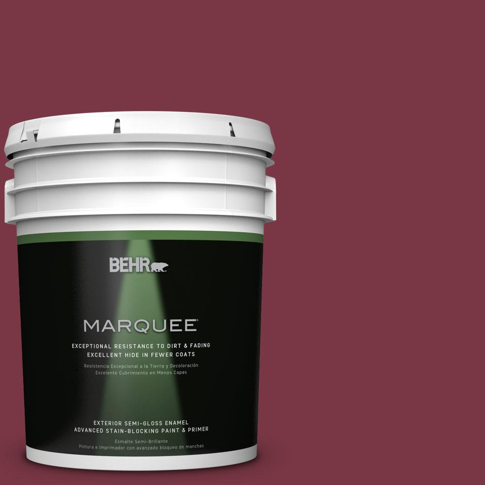 BEHR MARQUEE 5-gal. #S-H-110 Wine Tasting Semi-Gloss Enamel Exterior Paint