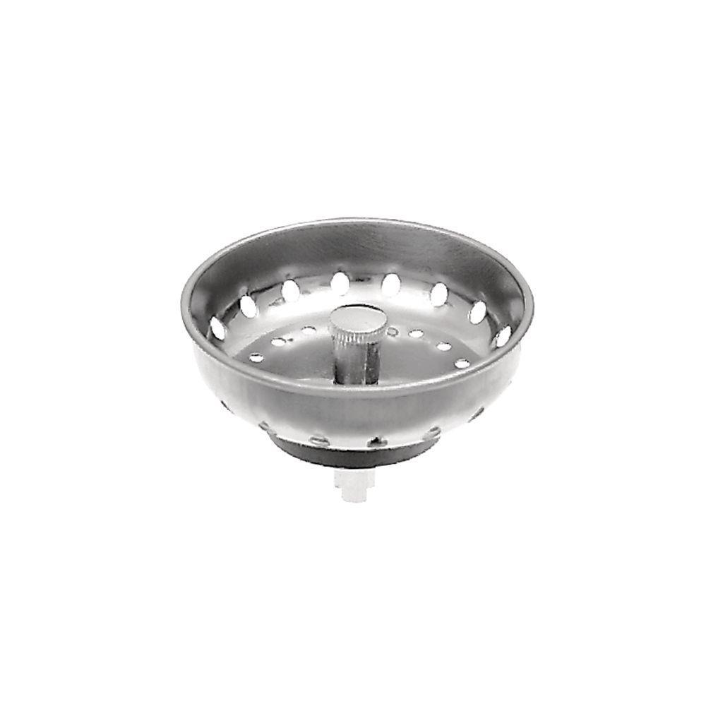 null 4 in. Easy Mount Sink Basket Strainer