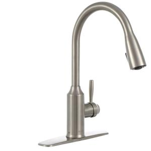 Glacier Bay Invee Single-Handle Pull-Down Sprayer Kitchen Faucet in Stainless Steel by Glacier Bay