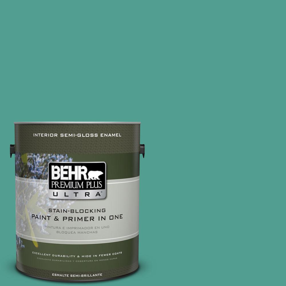 1 gal. #HDC-WR15-9 Aqua Revival Semi-Gloss Enamel Interior Paint