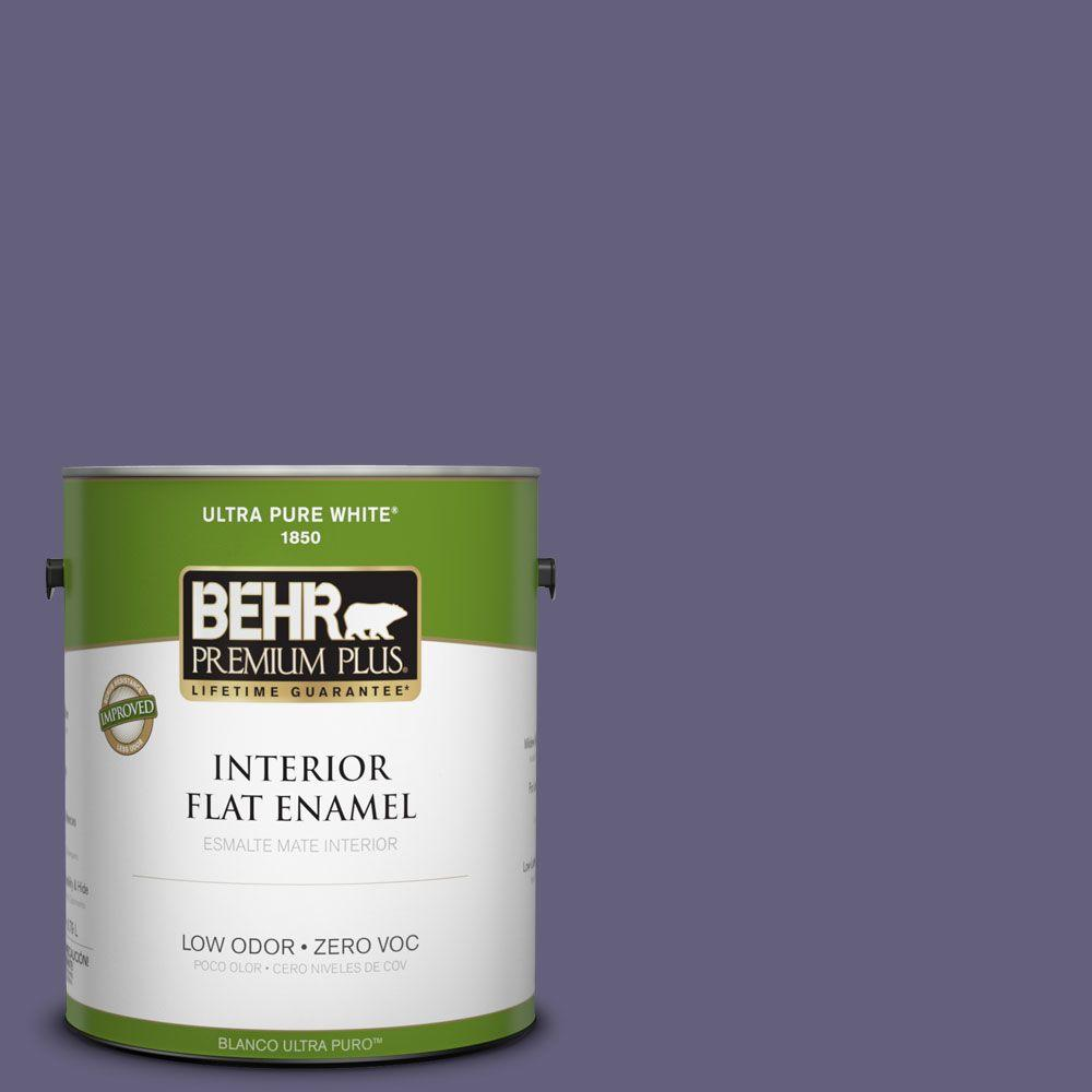BEHR Premium Plus 1-gal. #PMD-44 Twilight Dusk Zero VOC Flat Enamel Interior Paint-DISCONTINUED