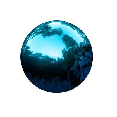10 in. Gazing Mirror Ball Stainless Steel Blue