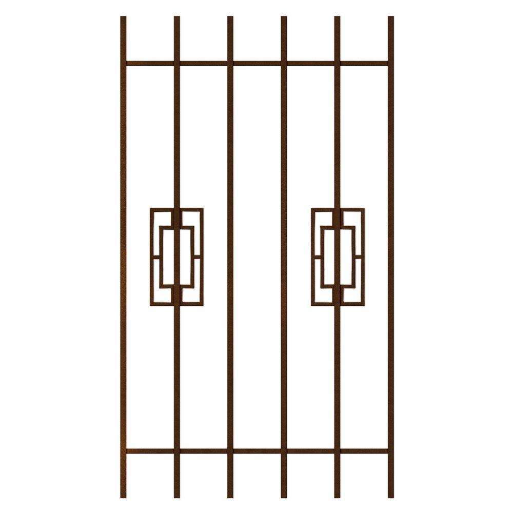 Unique Home Designs Modern Trifecta 30 in. x 54 in. Copper 6-Bar Window Guard-DISCONTINUED