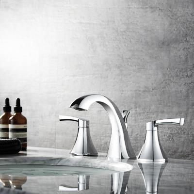 Abbie 8 in. Widespread 2-Handle Bathroom Faucet Polished Chrome