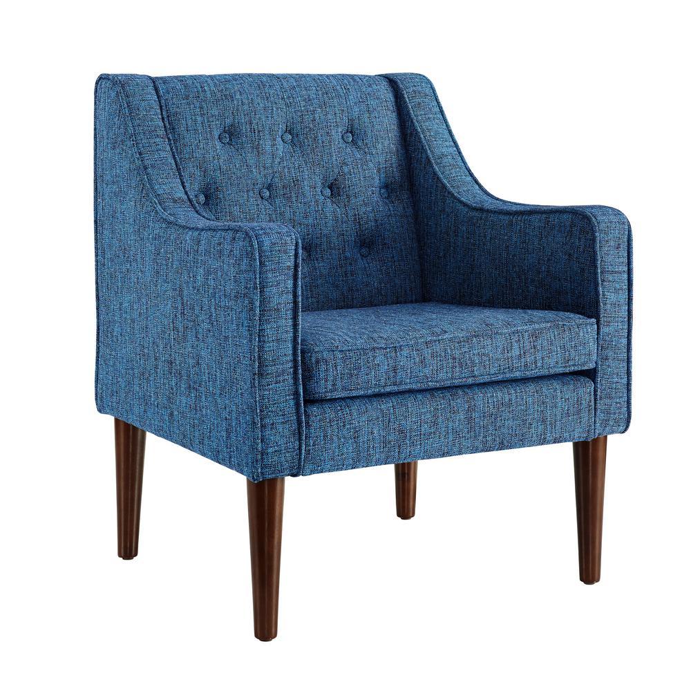 Mavis Dark Blue Tufted Back Chair