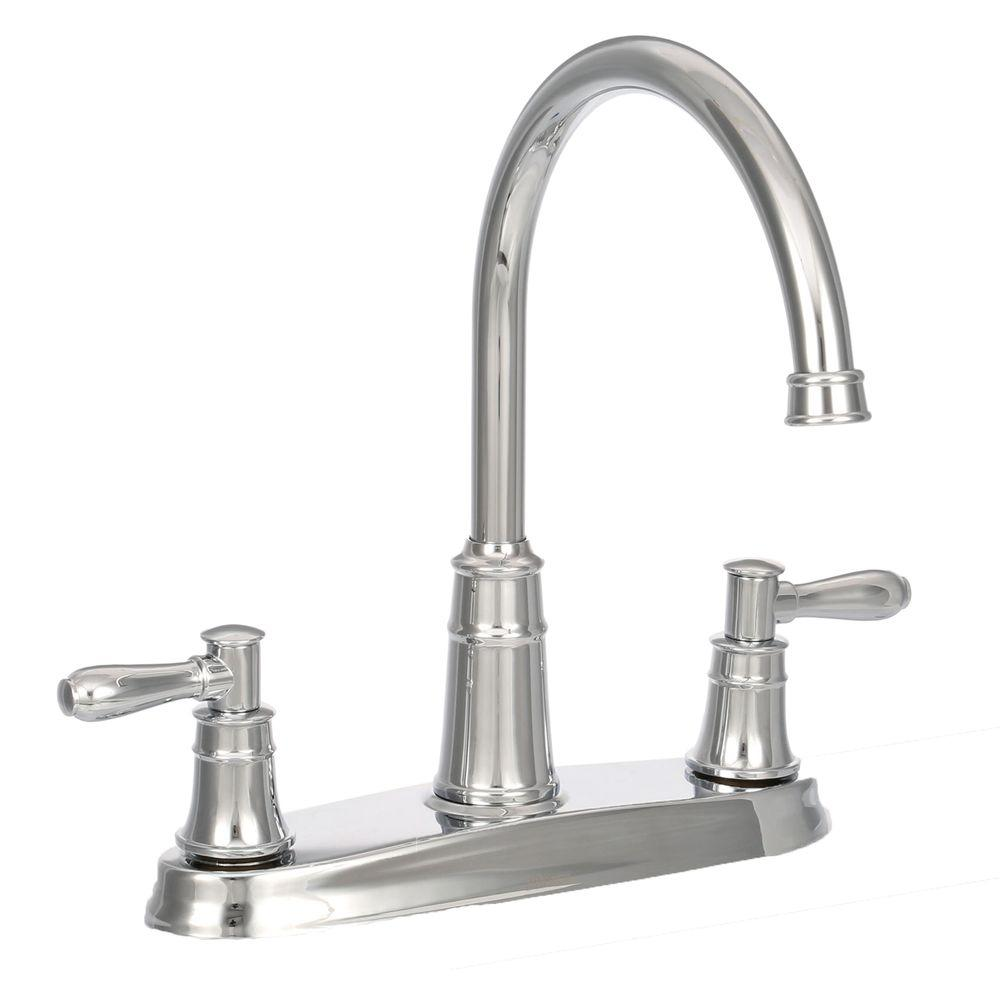 Pfister Harbor High-Arc 2-Handle Standard Kitchen Faucet in Polished Chrome
