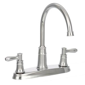 Harbor High Arc 2 Handle Standard Kitchen Faucet In Polished Chrome