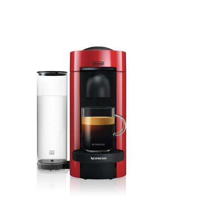 Vertuo Plus Single Serve Coffee and Espresso Machine by De'Longhi in Red