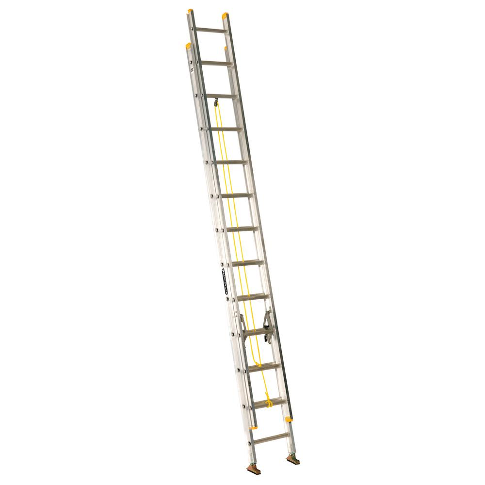 24 ft. Aluminum Extension Ladder with 250 lbs. Load Capacity Type