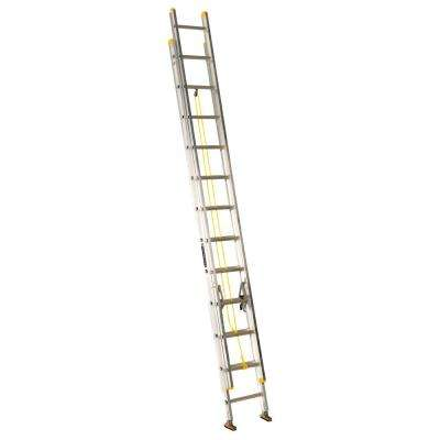 24 ft. Aluminum Extension Ladder with 250 lbs. Load Capacity Type I Duty Rating