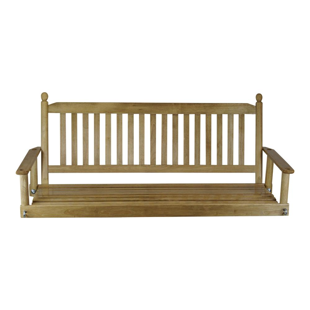 Porch Patio Swing - Maple 5 Ft. Porch Patio Swing-205PSM-RTA - The Home Depot
