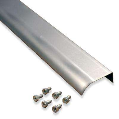 2 in. x 5 ft. Natural Aluminum Fascia Mounted Drip Edge Extension with Screws