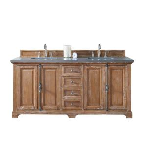 James Martin Signature Vanities Providence 72 inch W Double Vanity in Driftwood with Quartz Vanity Top in Gray with... by James Martin Signature Vanities