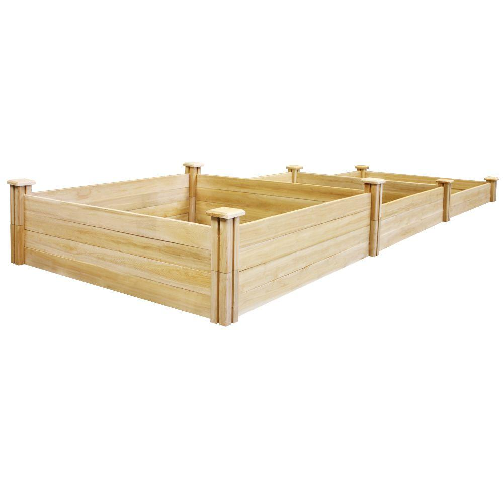 Greenes Fence Stair-Step Dovetail Raised Garden Bed-RC2T10S31B - The ...