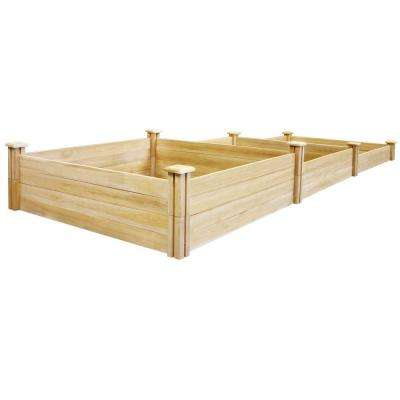 4 ft. x 12 ft. Stair-Step Original Cedar Raised Garden Bed