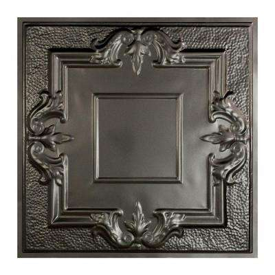 Niagara 2 ft. x 2 ft. Lay-in Tin Ceiling Tile in Argento