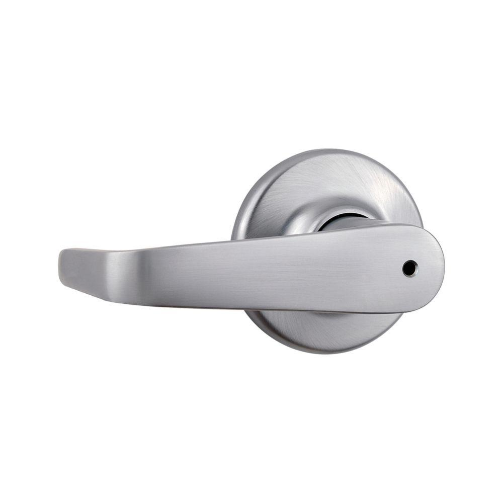 Kingston Satin Chrome Privacy Bed/Bath Door Lever