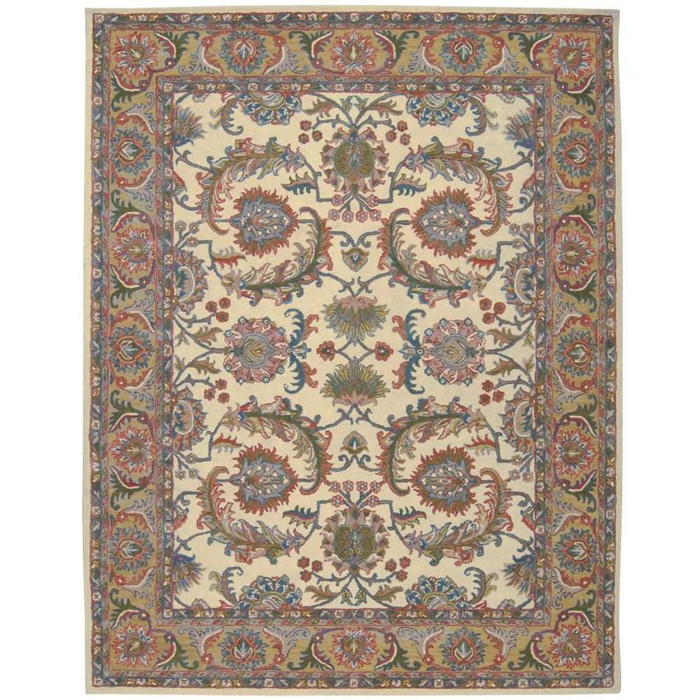 Nourison India House Ivory Gold 8 Ft X 11 Area Rug