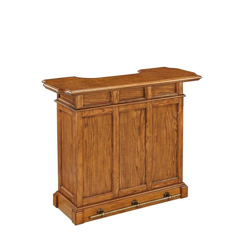 Home Styles Americana 4-Shelf Oak Bar with Foot Rail 5004-99