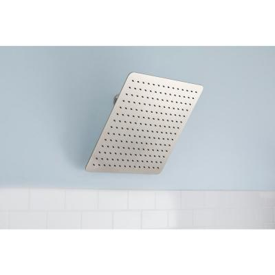 Modern 1-Spray 16 in. Single Ceiling Mount  Fixed Rain Shower Head in Brushed Nickel