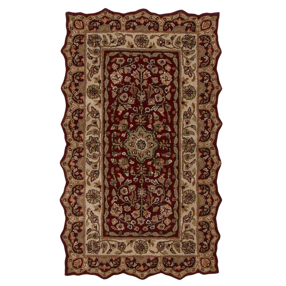 home decorators collection masterpiece red 2 ft x 3 ft accent rug 3713900110 the home depot. Black Bedroom Furniture Sets. Home Design Ideas