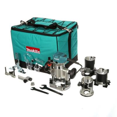 6.5 Amp 1-1/4 HP Corded Variable Speed Compact Router with 3 Bases (Plunge, Tilt, and Offset Base)