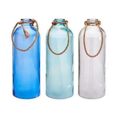 Glass Bottle with Micro LED (Set of 3)