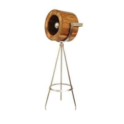 Portable Lamps Series 58 in. Nickel Floor Lamp