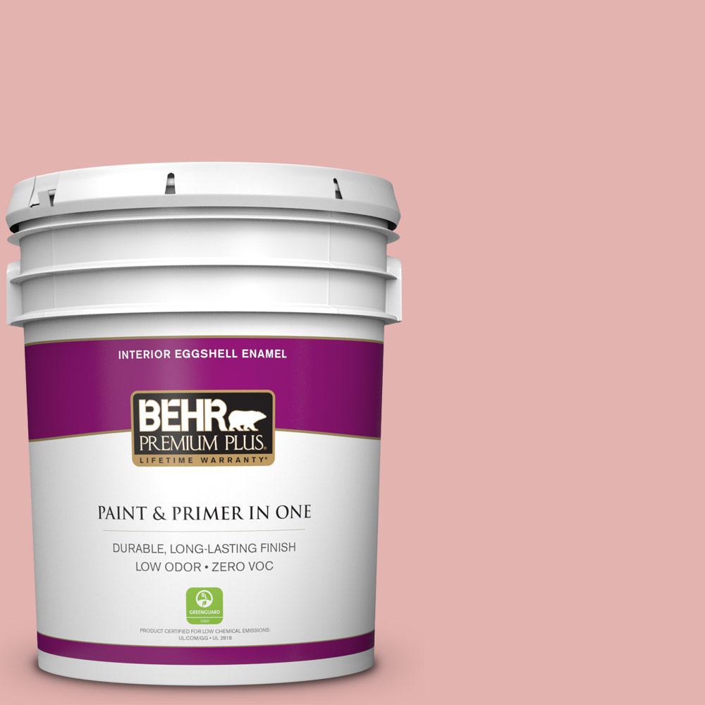 BEHR Premium Plus 5 gal. #hdc-SP16-09 Dahlia Zero VOC Eggshell Enamel Interior Paint
