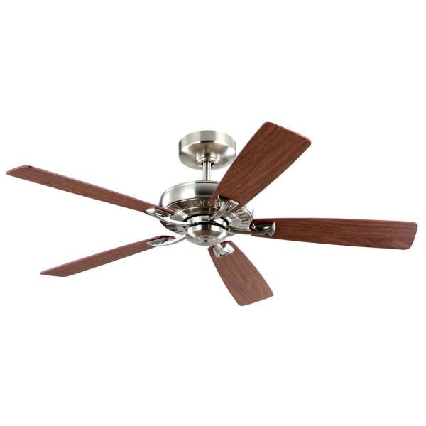 Gatefield 52 in. Indoor Brushed Nickel DC Ceiling Fan with Remote Control