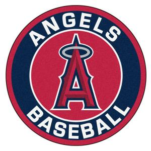 Fanmats Mlb Los Angeles Angels Navy 2 Ft X 2 Ft Round