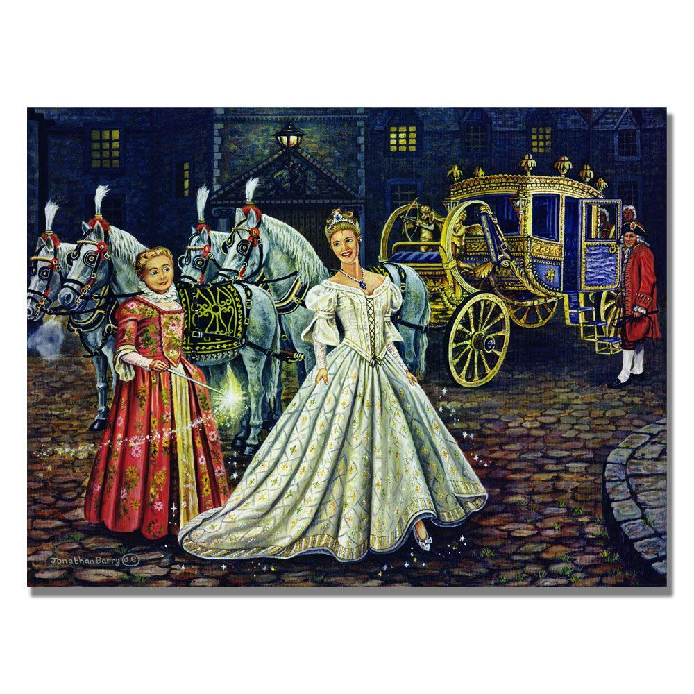 Trademark Fine Art 26 in. x 32 in. Cinderella Goes to the Ball, 1999 Canvas Art-DISCONTINUED