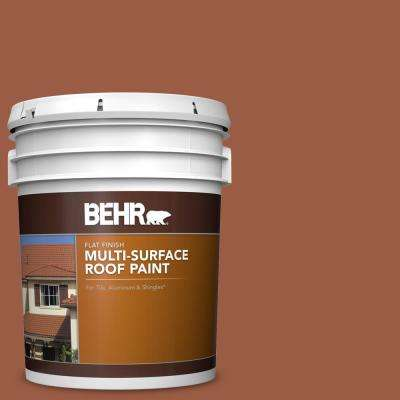 5 gal. #RP-25 Terra Stone Flat Multi-Surface Exterior Roof Paint