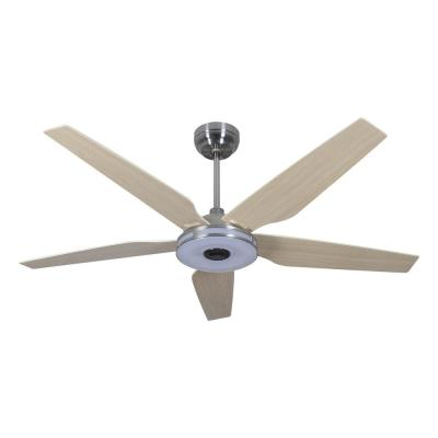 Explorer 56 in. Integrated LED Indoor Silver Smart Ceiling Fan with Light Kit works with Google and Alexa
