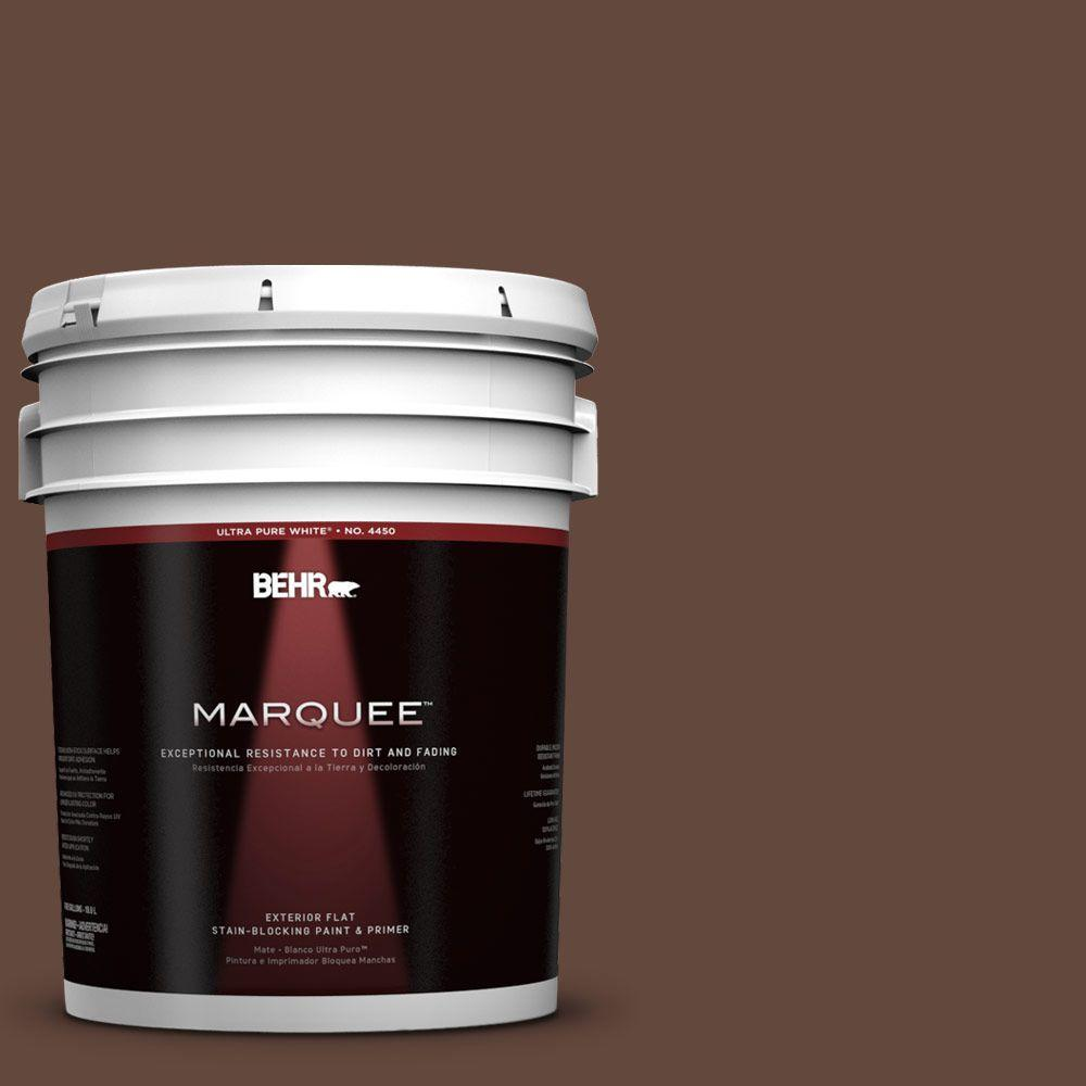5-gal. #770B-7 Chocolate Sparkle Flat Exterior Paint