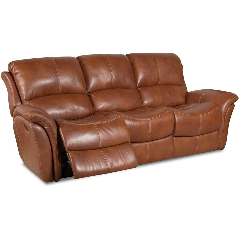 Cambridge Old Gold Appalachia Leather Double Reclining Sofa